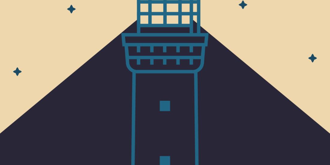 Faro di Genova illustrazione originale