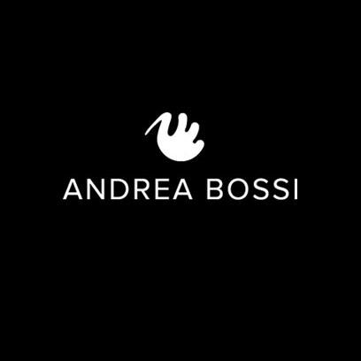 Andrea Bossi logo negativo, nero