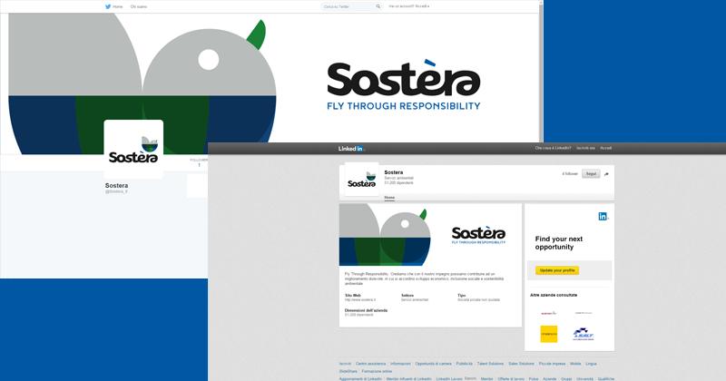 Sostera, social media cover and avatar
