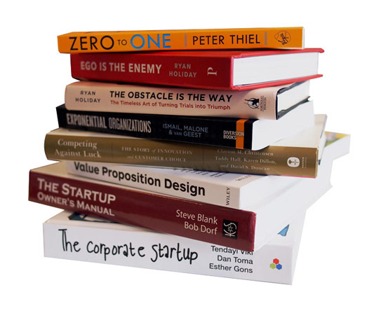 Libri per startupper, Zero to one Peter Thiel, Steve Blank, Exponential Organitations